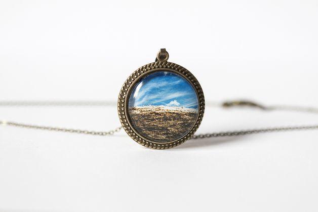 Naszyjnik z kawałkiem nieba/ A piece of sky pendant - Art-Of-Nature