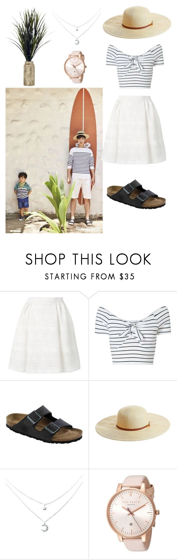 """""""JiYong on Woman Sense Magazine"""" by catezovi ❤ liked on Polyvore featuring RED Valentino, Miss Selfridge, Birkenstock, Melissa Odabash and Ted Baker"""