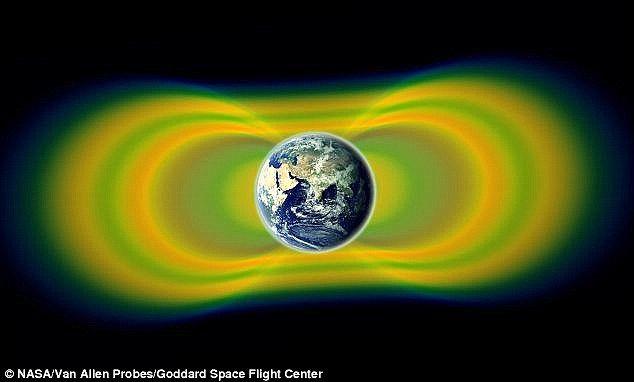 An artist's impression of the Van Allen belts: The Van Allen radiation belts are…