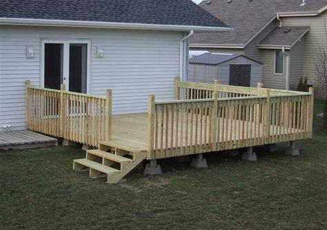 How To Build A 16x16 Deck Patio Deck Designs Decks Backyard Building A Deck