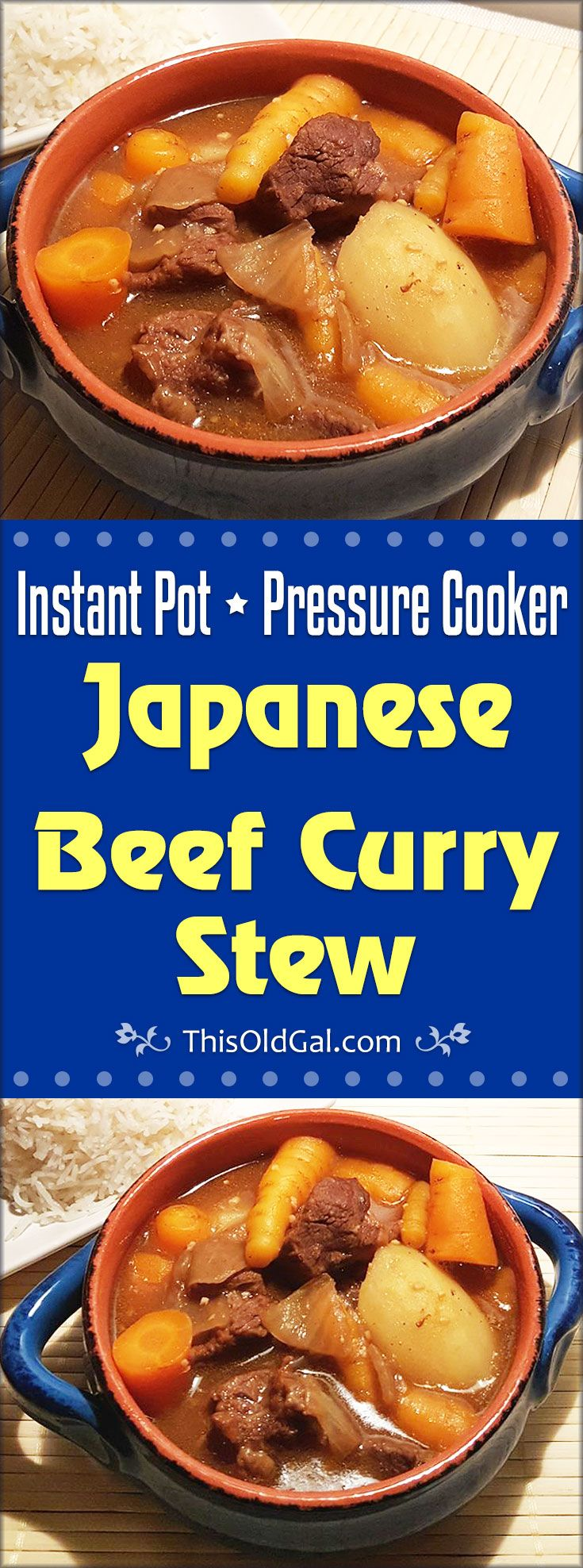 Delicious and complex flavors from this Pressure Cooker Japanese Beef Curry in less than one hour!  No more standing over a hot stove for hours. via @thisoldgalcooks