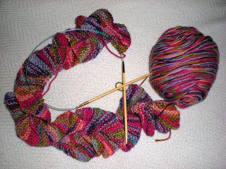 Knitting a Potato Chip Scarf   KraftyKash   Vintage Jewelry and Decor