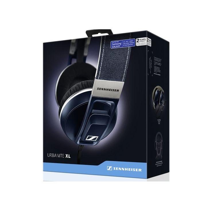 SENNHEISER URBANITE XL Galaxy Denim, Słuchawki nauszne  SEN0019ESM Nowe słuchawki wokółuszne Sennheisera  z serii zapewniają niepowtarzalny styl i intensywny dźwięk klubowy nawet w ruchu. Połączenie z dedykowanym urządzeniem jest proste z pilotem ze zintegrowanym mikrofonem, możesz swobodnie dzwonić i zarządzać muzyką The XLs look like big, uncompromising brutes, but they sound relaxed and unfussy. A good option