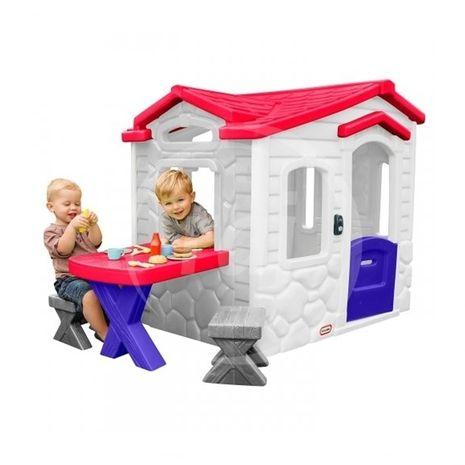 Jucarii de exterior :: Casute si spatii de joaca :: Casute pentru copii :: Casuta Picnic la terasa alba Little Tikes