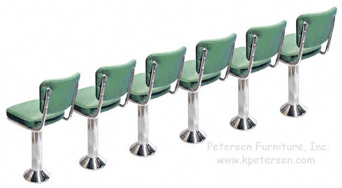 Soda Fountain Counter Stools Line Up Floor Mounted Counter Stools for Restaurants Pinterest