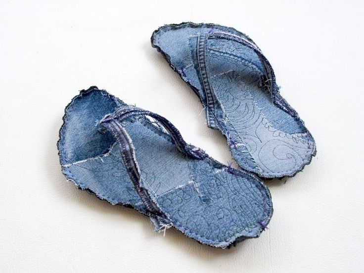 How-To: Indoor Recycled Jeans Flip Flops