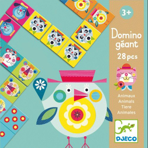 Állatos dominó nagyméretű, Giant Domino: Animals - dominójáték 3 éves kortól - Djeco