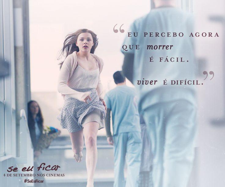 """Se Eu Ficar - Frases_""""Eu percebo agora que morrer é fácil.Viver é difícil."""""""