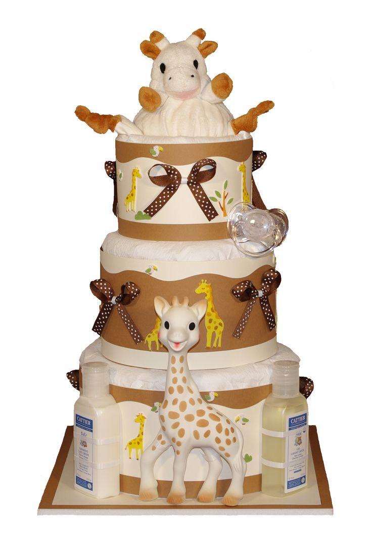Geweldige marsepeintaart gemaakt met Sophie de Giraf. #babyshower #geboorte #kraamfeest