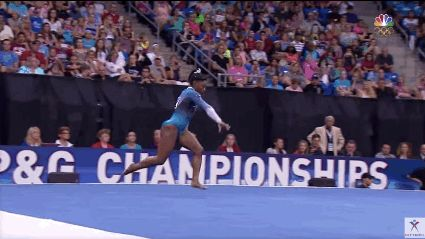 You can do anything you set your mind to. Except for Simone Biles's floor…