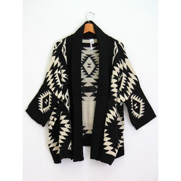 Aztec Cardigan ❤ liked on Polyvore