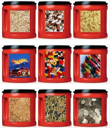 Crafty Canisters w/ Folger's Coffee Cans & Free Downloadable Labels