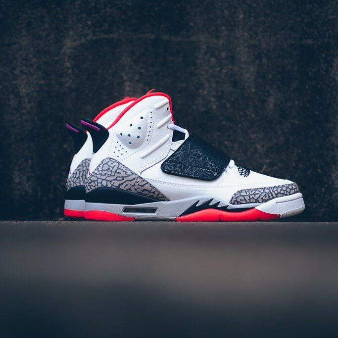 Nike Air Jordan Son Of Mars: White/Flash/Black