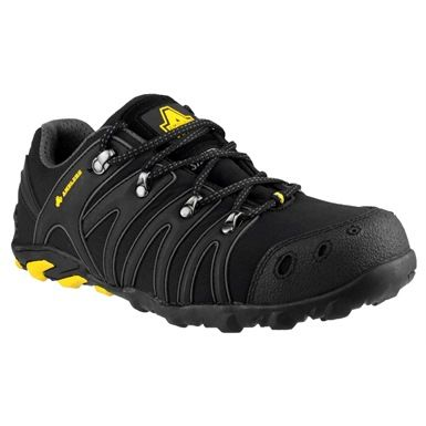 Be safe & stylish in a pair of these Ambler FS23 safety trainers. As well as their strking looks, they feature a steel toe cap and midsole protection, plus upper speed lacing hooks. SRA slip resistance.ISO20345.