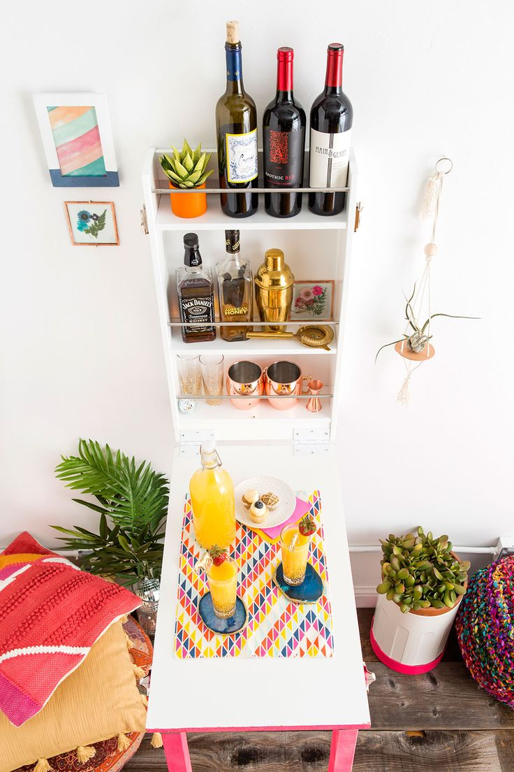 DIY this fun murphy bar for all your home entertaining.