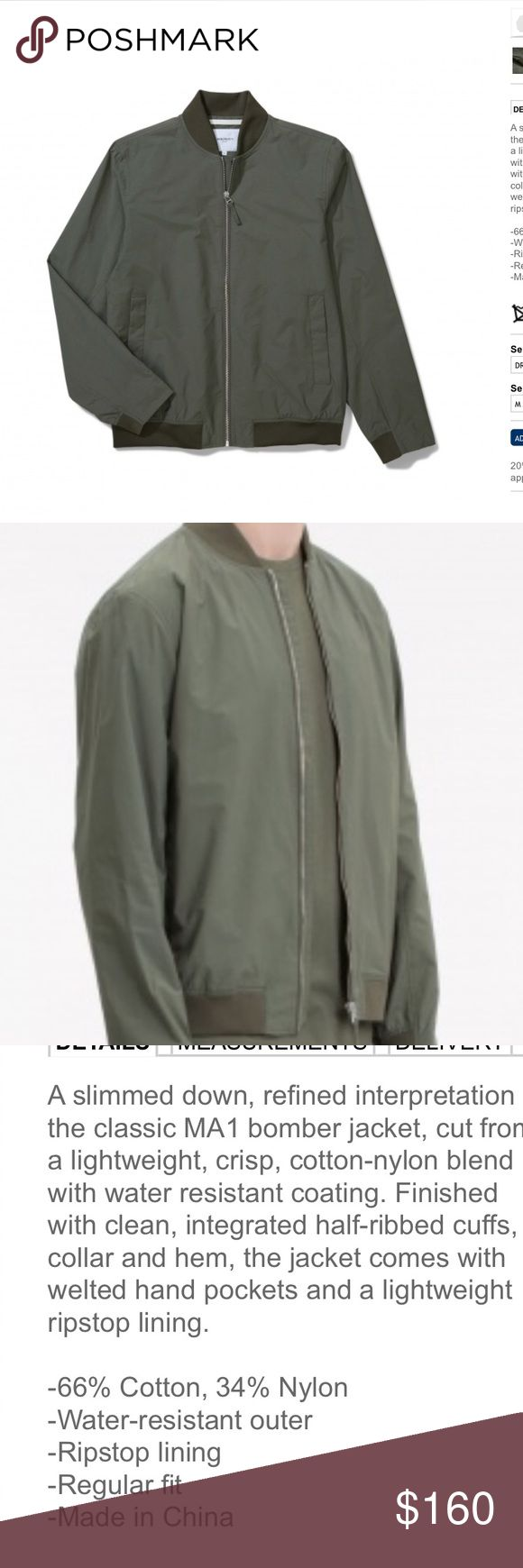 Norse Men's Bomber Jacket Olive/military green bomber style jacket. Never worn with tags. Slim fit. From Denmark. Sold on JCrew for $350 Norse Projects Jackets & Coats Bomber & Varsity