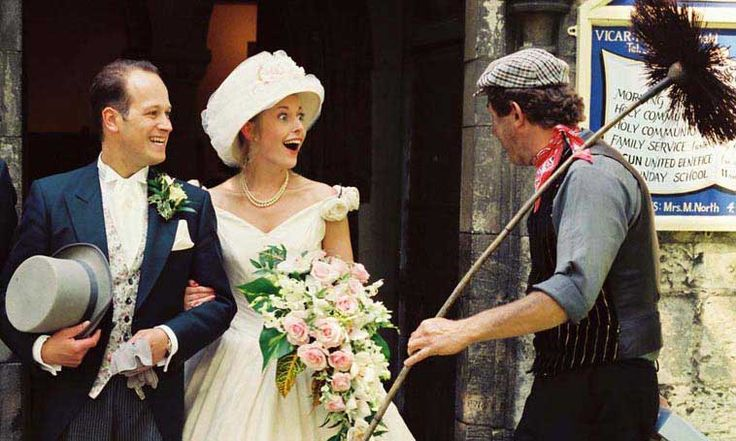Wedding Photographer Catches The Moment As Bride Is Surprised By Earance Of Lucky Chimney Sweep Photography Pinterest