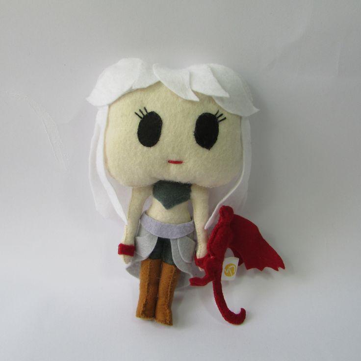 Daenerys Targaryen em feltro Personagem Game of Thrones