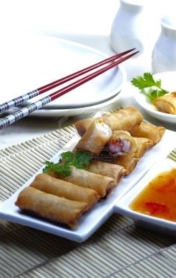 Lumpia . Makes my mouth water!!!
