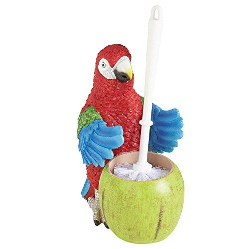Tropical Parrot Toilet Brush Holder >>> Check out the image by visiting the link.