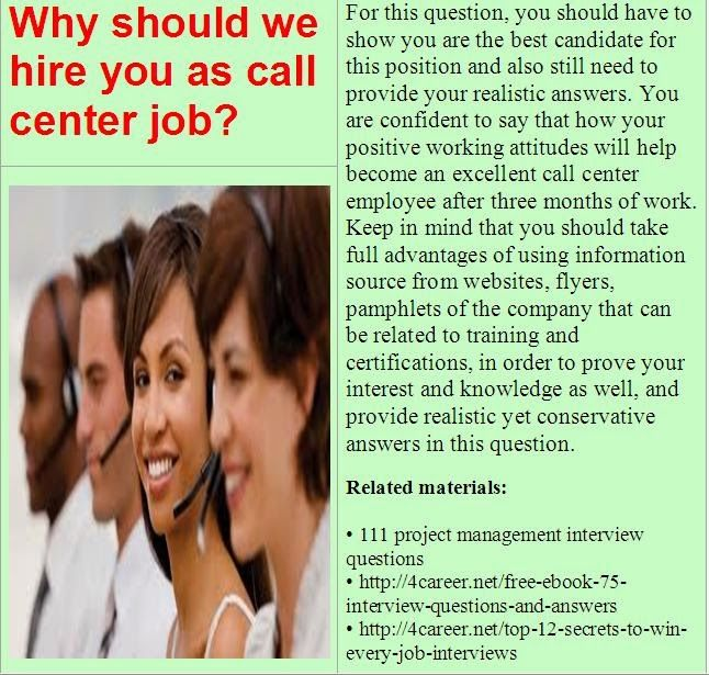 16 best Call center interview questions images on Pinterest Job - customer service interview questions