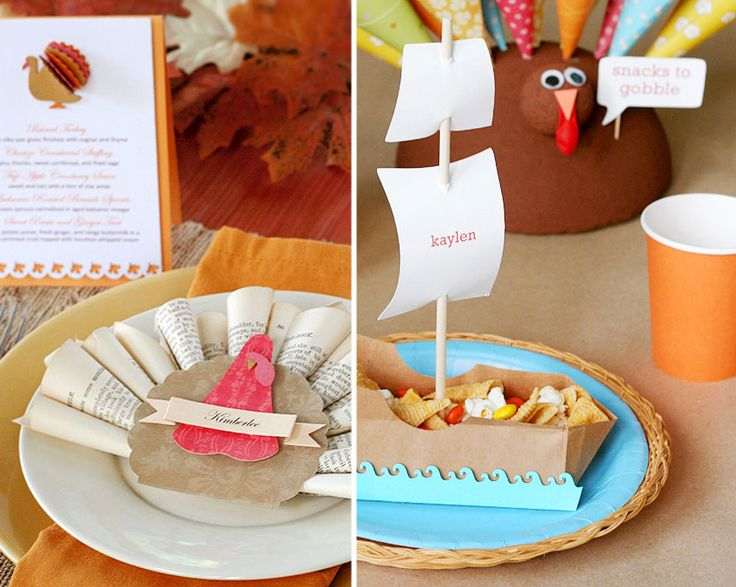 Thanksgiving Table Place Setting Ideas Part - 49: 138 Best Thanksgiving Party And Snack Ideas For Kids Images On Pinterest |  Holiday Ideas, Ideas And Thanksgiving Parties