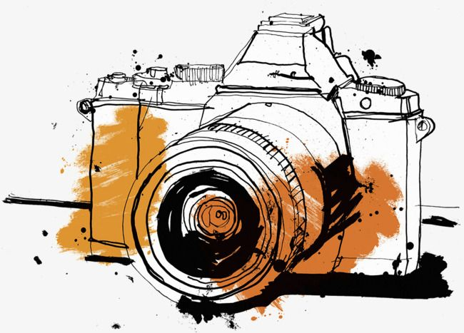 Focus Illustration Of Hand Drawn Camera Camera Clipart Camera