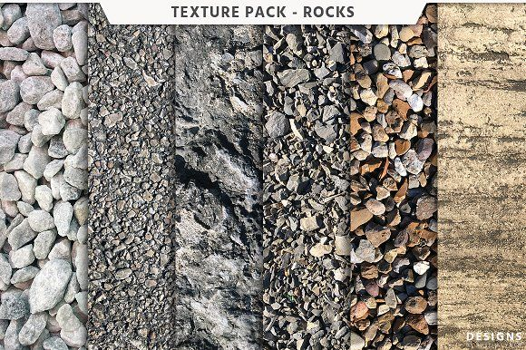 Rock Texture Pack by Designs by Justin Lynch on @creativemarket