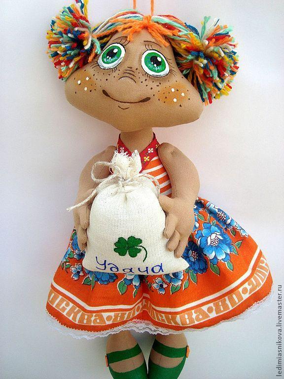 Купить Домовушка УДАЧА - кукла ручной работы, кукла в подарок, кукла-оберег, куклы и игрушки