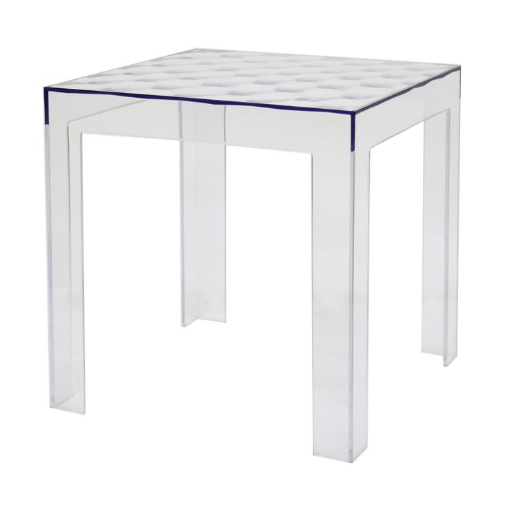 thin clear glass table with base patterned like carpet and attractive triangular feet and very fit to laying flower vase