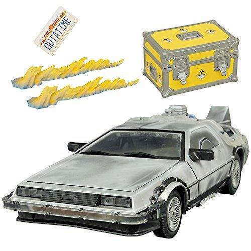 Back To The Future DeLorean Iced Time Machine OUTATIME 1:15 Scale Model Set @ niftywarehouse.com #NiftyWarehouse #BackToTheFuture #Movie #Film #Movies #Gifts