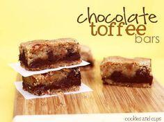Chocolate Toffee Bars | www.cookiesandcups.com | #chocolate #toffee #recipe