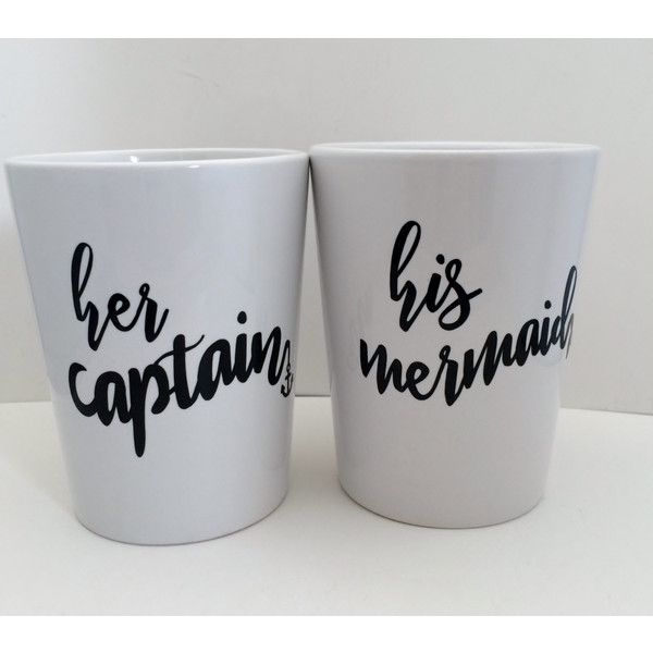 His Mermaid Mugs Her Captain Wedding Gifts For Couples