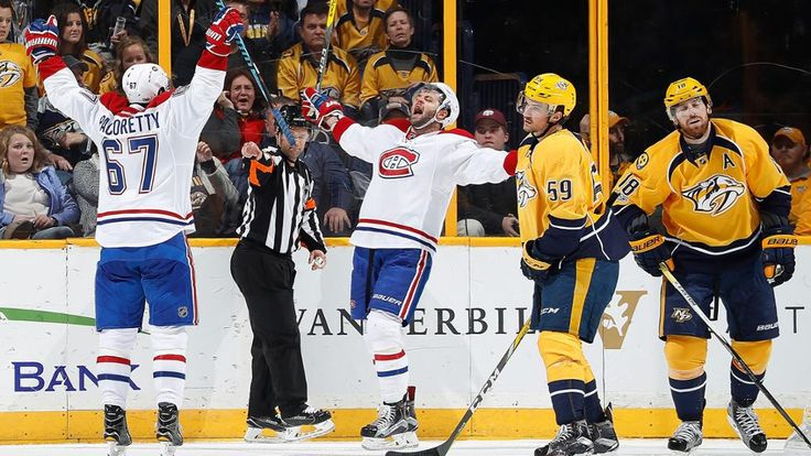 Shea Weber, Canadiens defeat Predators in overtime Defenseman ties game in return to Nashville, Max Pacioretty scores in OT by Robby Stanley / NHL.com Correspondent  January 3rd, 2017 - Shea Weber, Canadiens defeat Predators in overtime