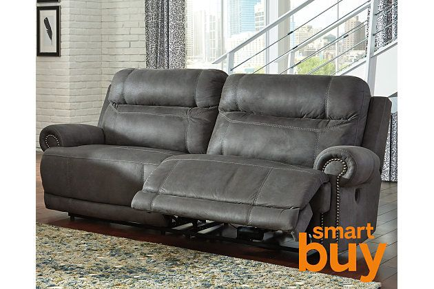 """Gray Austere Reclining Sofa - nice """"non recliner"""" looking recliner"""