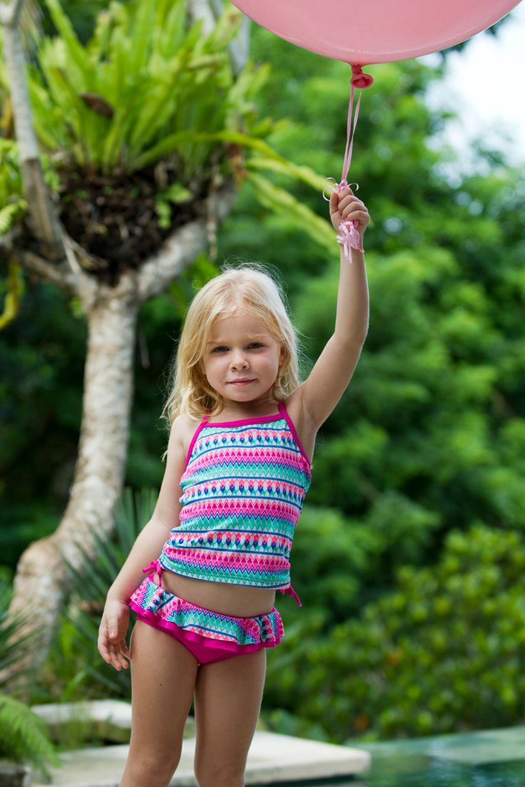 escargot-girls-kids-swimsuits-bathing suit-pink-blue-green ...