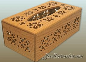 Scroll Saw Patterns :: Handy items :: Tissue box covers -