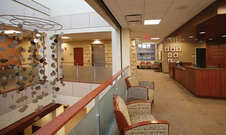 St Elizabeth Hospital Affinity Health Lung and Vascular Center by Atmosphere Commercial Interiors