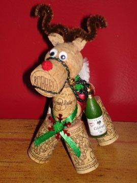 Best of the cork reindeer ornaments out there. From Etsy.