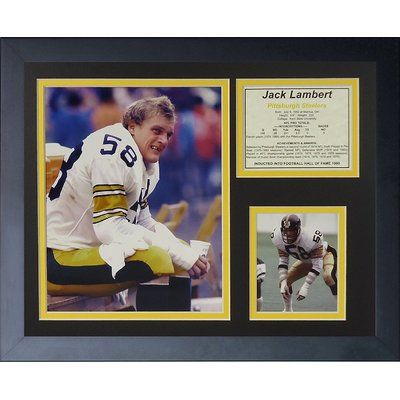 Legends Never Die Jack Lambert Framed Memorabilia