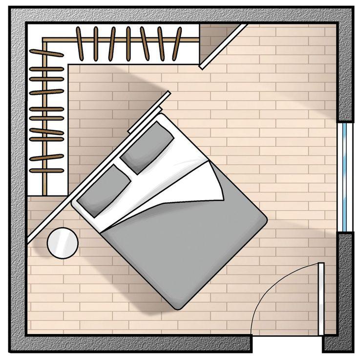 Картинки по запросу cabina armadio camera piccola quadrata
