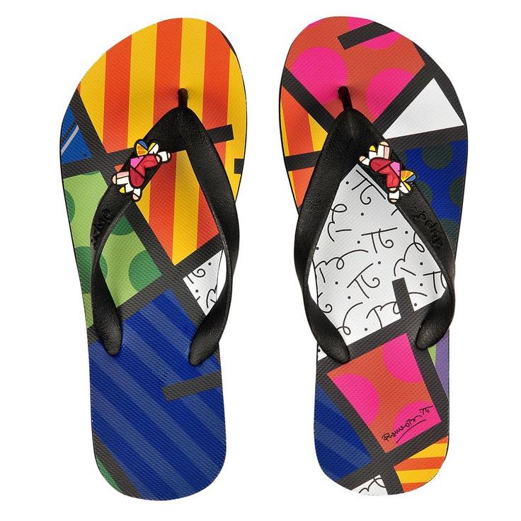 Romero Britto Flip Flops? YES, PLEASE!