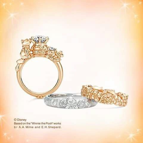 K.uno Pooh Wedding and engagement rings