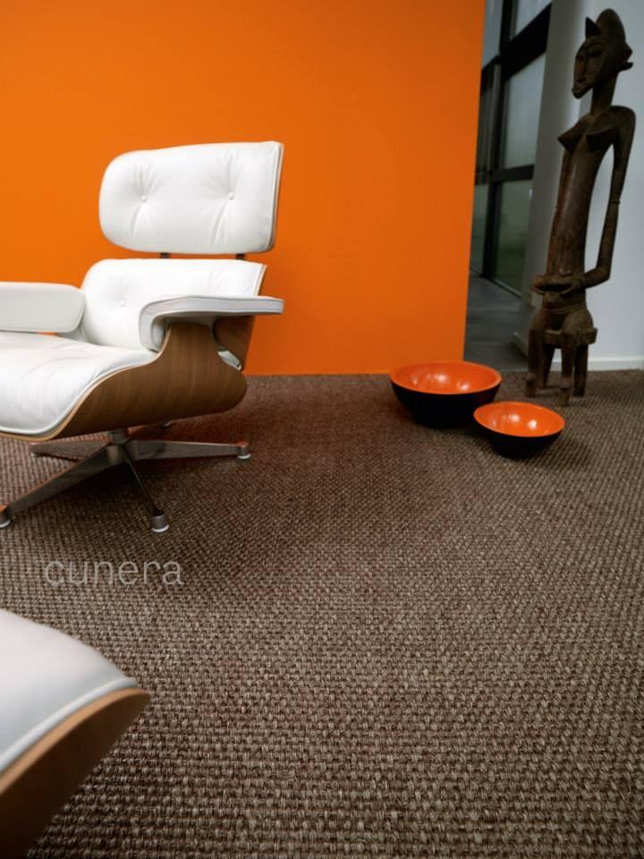 Een grof sisal tapijt dat perfect past in een stoer interieur vanwege de ambachtelijke uitstraling.