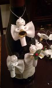 Christmas crafts: Pasta Angels Made these some years ago. I put clothes pins on back to attach to tree.