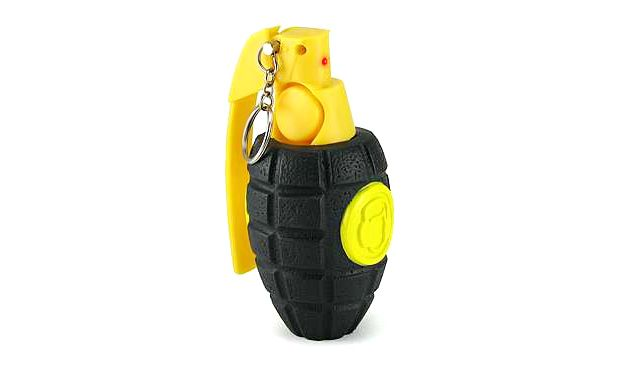 Duck for Cover - sonic grenade alarm clock is guaranteed to get your sleep children out of bed....just pull the pin, throw the grenade into the room, & get out of there lmfao