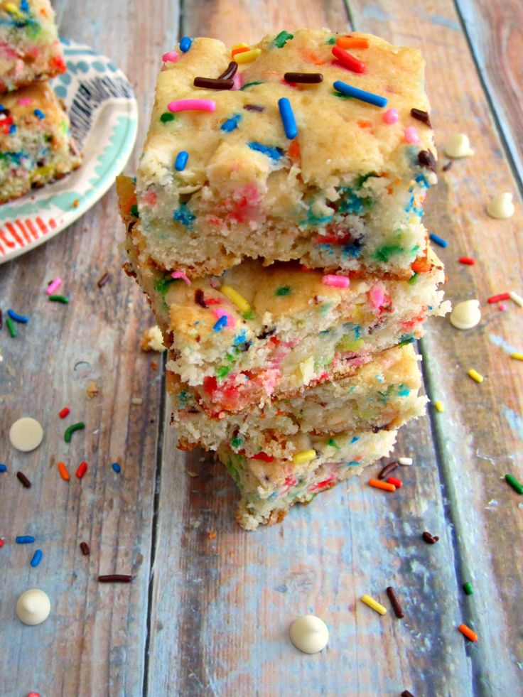 Soft, moist, and full of cake batter flavor, these Funfetti Cake Batter Bars are sure to satisfy your sweet tooth in a fun way!