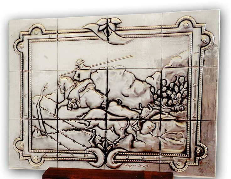 "SPANISH TILE 05 by arteymetal on deviantART Plaque inspired by a tile of a bench to  ""The Laguna Square"" from Ayamonte ""(Spain)."