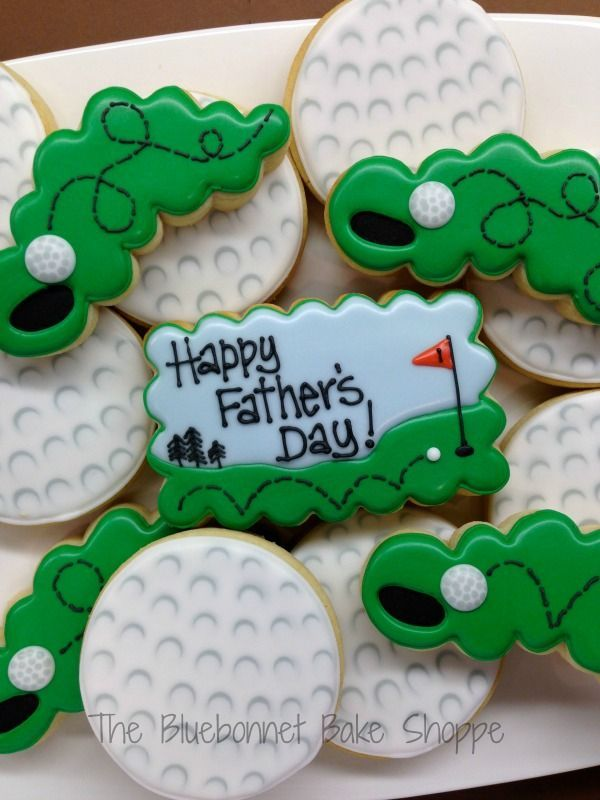 Decorated Golfball Cookies A very good short tutorial on to do golf ball cookies There is even a short video. Just in time for Fathers Day