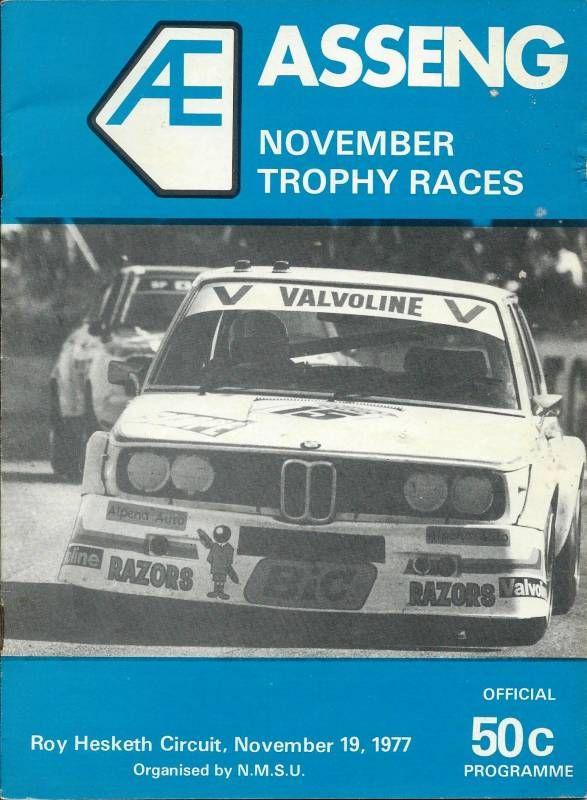 Roy Hesketh Racing Programmes 19th November 1977 | Pietermarizburg